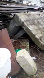 пеноплита 6 м и 2 армированных бетонных угла
